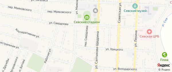Переулок Свердлова на карте Севска с номерами домов