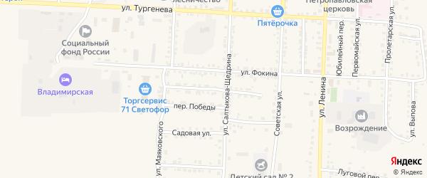 Гвардейский переулок на карте Севска с номерами домов