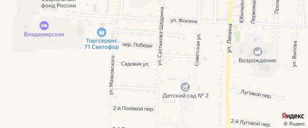 Садовая улица на карте Севска с номерами домов