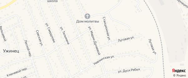 Улица Марии Дунаевой на карте поселка Навли с номерами домов