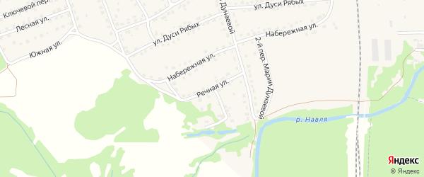 Речная улица на карте поселка Навли с номерами домов
