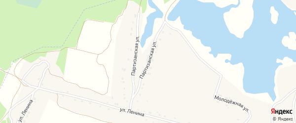 Партизанская улица на карте поселка Красного Колодца с номерами домов
