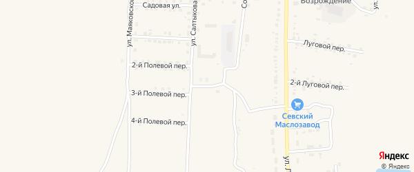 1-й Новый переулок на карте Севска с номерами домов