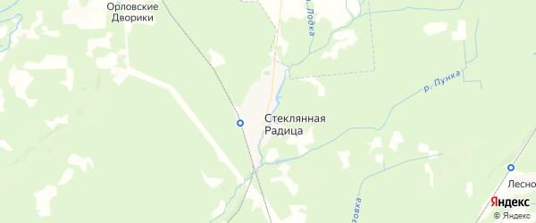 Карта территории Стекляннорадицкого сельского поселения Брянской области с районами, улицами и номерами домов