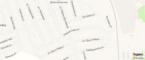 Навлинская улица на карте поселка Навли с номерами домов