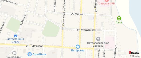 Улица Володарского на карте Севска с номерами домов