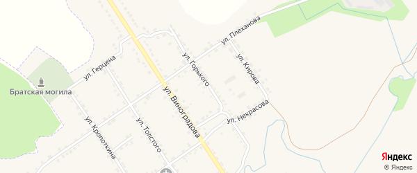 Улица Горького на карте Севска с номерами домов