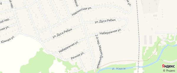 Набережная улица на карте поселка Навли с номерами домов