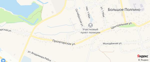 Переулок Лермонтова на карте поселка Большое Полпино с номерами домов