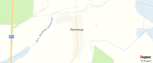 Карта деревни Липницы в Брянской области с улицами и номерами домов