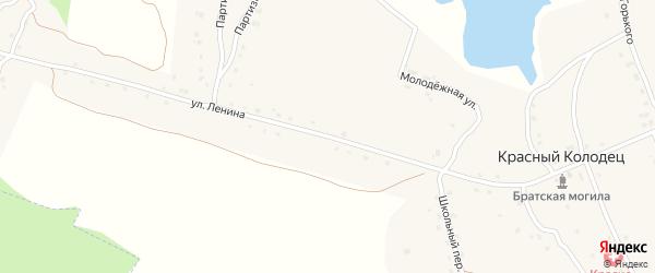 Улица Ленина на карте поселка Красного Колодца с номерами домов