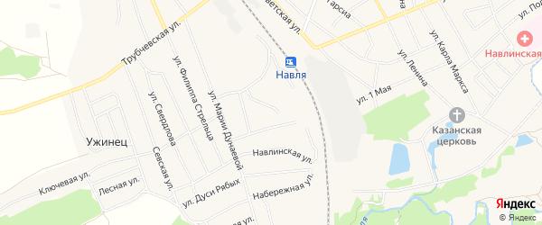 Карта железнодорожного разъезда Земляничной в Брянской области с улицами и номерами домов