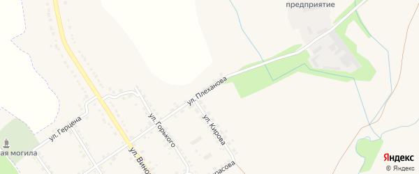 Улица Плеханова на карте деревни Пушкарной Слободы с номерами домов