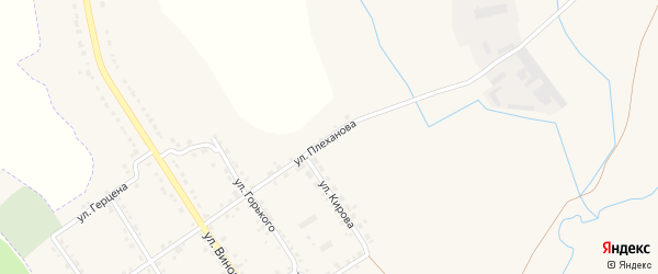 Улица Плеханова на карте Севска с номерами домов