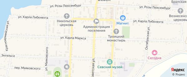Улица Карла Маркса на карте Севска с номерами домов