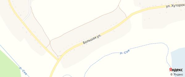 Большая улица на карте Новоямского села с номерами домов