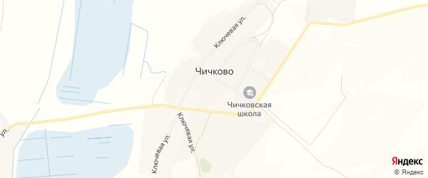 Карта села Чичково в Брянской области с улицами и номерами домов