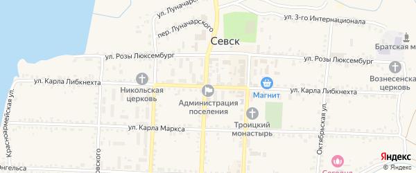 Улица Карла Либкнехта на карте Севска с номерами домов