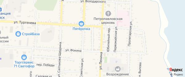 Переулок Буденного на карте Севска с номерами домов