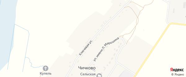 Ключевая улица на карте села Чичково с номерами домов
