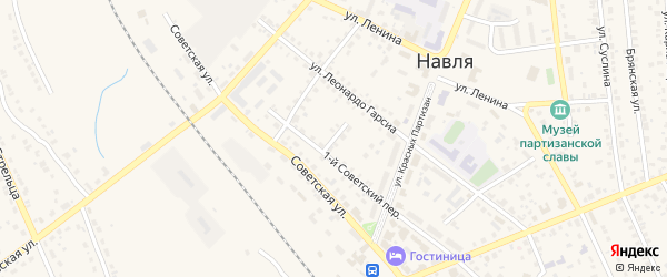 2-й Советский переулок на карте поселка Навли с номерами домов