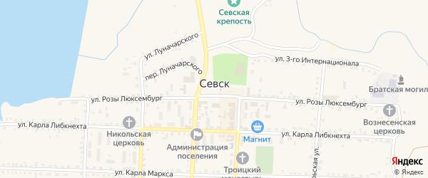 1-й Луговой переулок на карте Севска с номерами домов