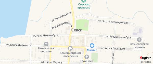 Казачий переулок на карте Севска с номерами домов