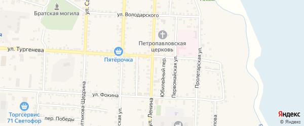 Улица Ленина на карте Севска с номерами домов