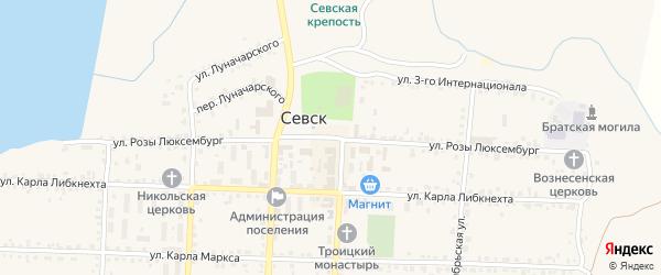Улица Розы Люксембург на карте Севска с номерами домов