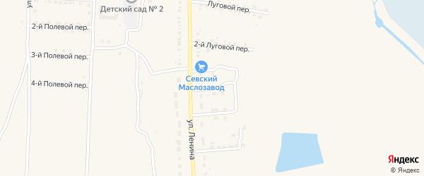 4-й Луговой переулок на карте Севска с номерами домов