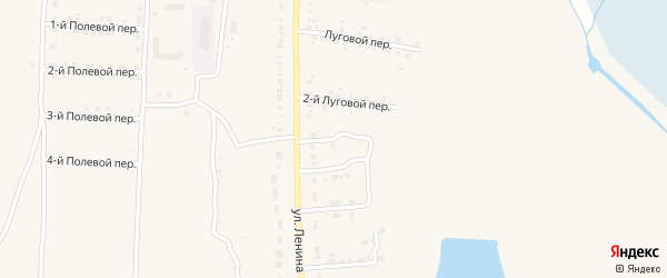 3-й Луговой переулок на карте Севска с номерами домов