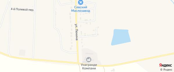 Заводской переулок на карте Севска с номерами домов