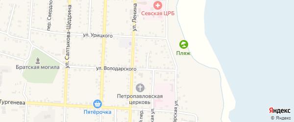 Переулок 27 Августа на карте Севска с номерами домов