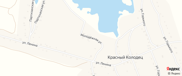 Молодежная улица на карте поселка Красного Колодца с номерами домов