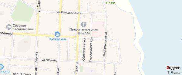 Первомайская улица на карте Севска с номерами домов