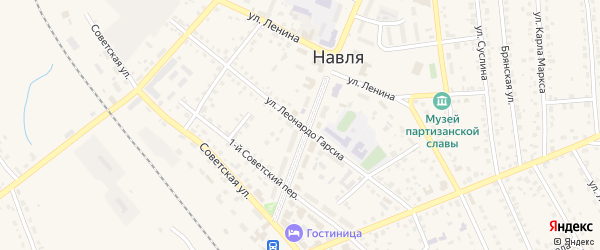 Улица Леонардо Гарсиа на карте поселка Навли с номерами домов