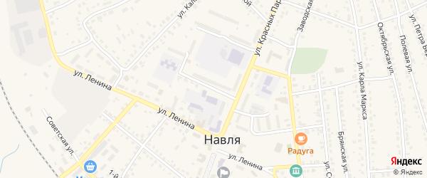Улица Генерала Петренко на карте поселка Навли с номерами домов