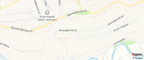 Молодежная улица на карте поселка Большое Полпино с номерами домов