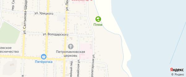 Пролетарская улица на карте Севска с номерами домов