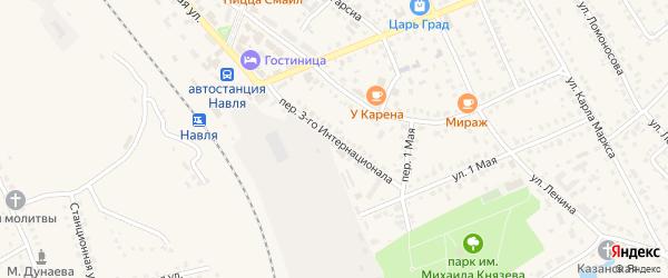 Переулок 3 Интернационала на карте поселка Навли с номерами домов