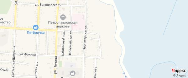 Переулок Тургенева на карте Севска с номерами домов