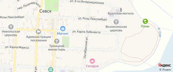 Октябрьская улица на карте Севска с номерами домов
