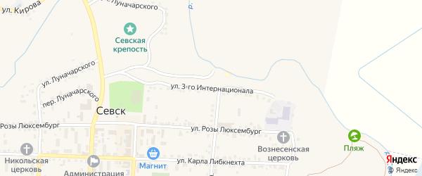 Улица 3 Интернационала на карте Севска с номерами домов