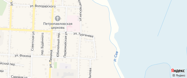 Набережная улица на карте Севска с номерами домов