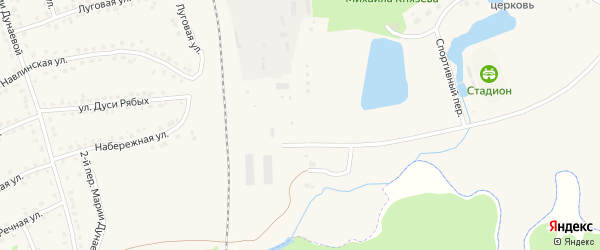 Улица Водокачка на карте поселка Навли с номерами домов