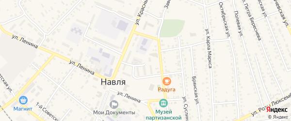 Переулок Дмитрия Емлютина на карте поселка Навли с номерами домов