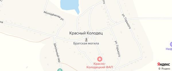 Улица Березовая Аллея на карте поселка Красного Колодца с номерами домов