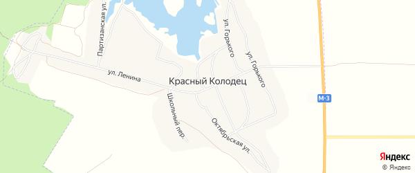 Карта поселка Красного Колодца в Брянской области с улицами и номерами домов