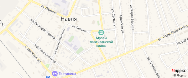 Улица Ленина на карте поселка Навли с номерами домов