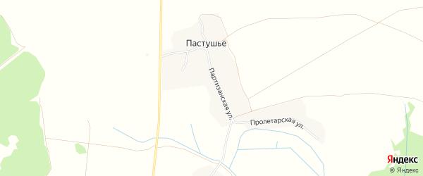 Карта деревни Пастушьего в Брянской области с улицами и номерами домов